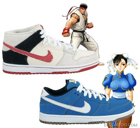 Kickin' Ass Shoe Design: Street Fighter Inspired Nikes
