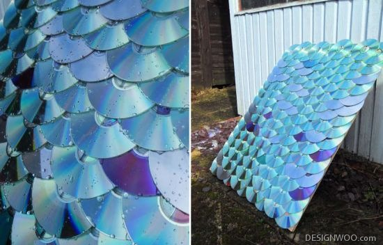DIYer Creates Roofing From Recycled CDs And DVDs