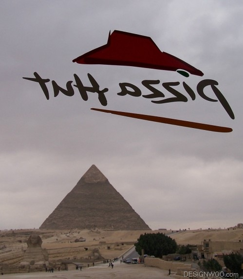 The Sphinx and the Pyramid of Khafre, as seen from… Pizza Hut