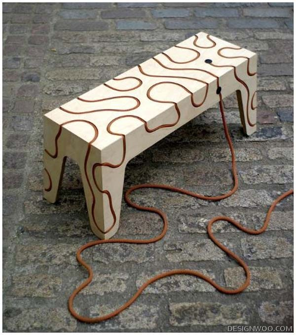 Ropes Bench: Tensile Furniture By Yoav Reches
