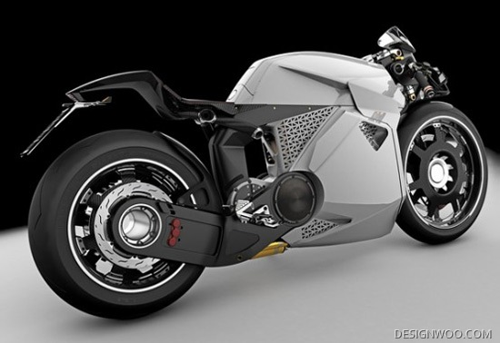 Stylish Electric Bike Concept Wears Aggressive Looks
