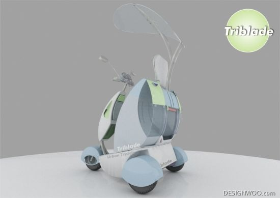 Triblade Delivery Tricycle Concept Runs Clean On A Hybrid Engine