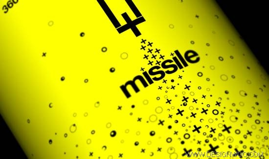 Missile Energy Drink Package Design