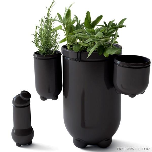 Studio Klass 'Flying Green' Fresh Spice Vases