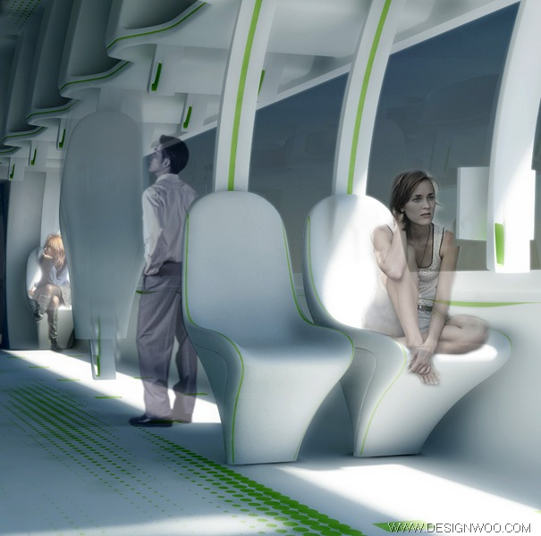 Train Interior Design of Deep Thought